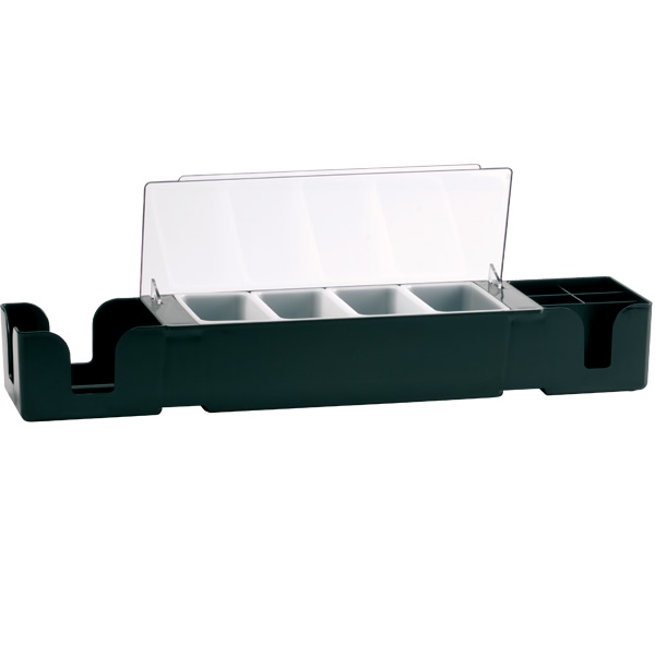 Bar Center with 4 Pint Inserts, black