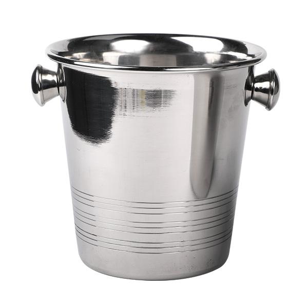 Mini Ice Bucket w/ Handle, Stainless St, Ø14x13cm