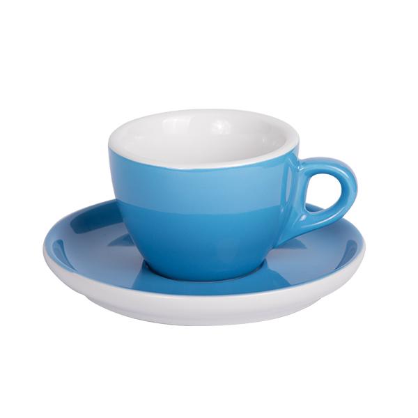 Kaffee Tasse mit Untertasse 160ml Blau 2170c