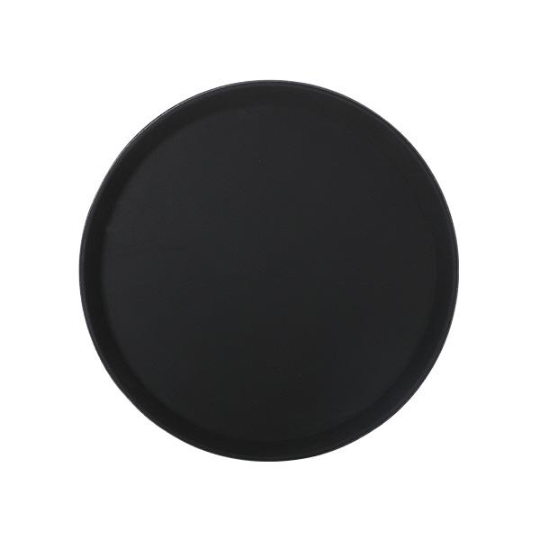 Tablett Polypropylen 36 cm, rund, schwarz