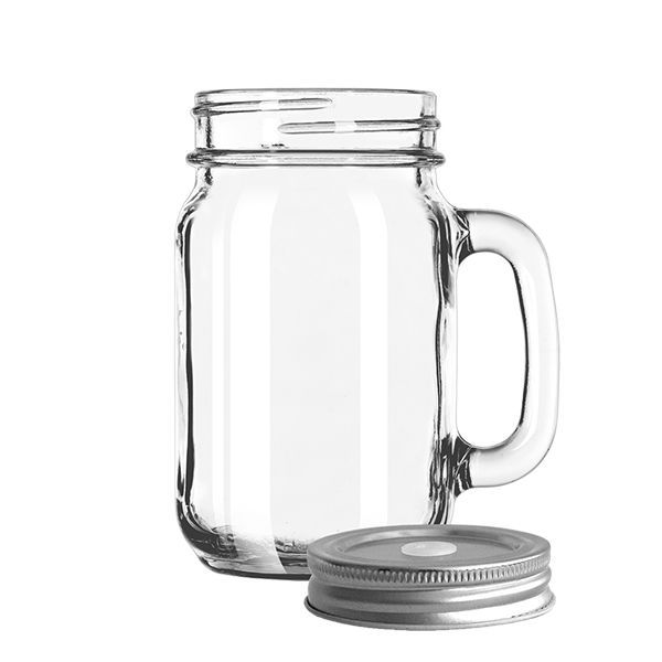 Drinking Jar mit Deckel 473ml