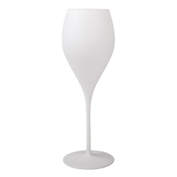 Champagnerglas matt-weiß 343ml