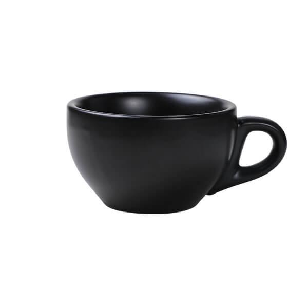 Milchkaffee Tasse 260ml, schwarz
