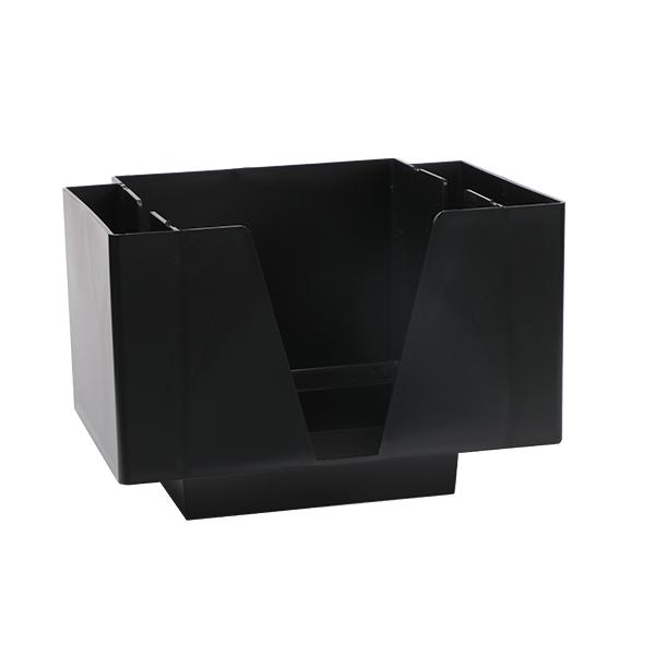 Bar Caddy für Servietten, Seitenfächer, schwarz