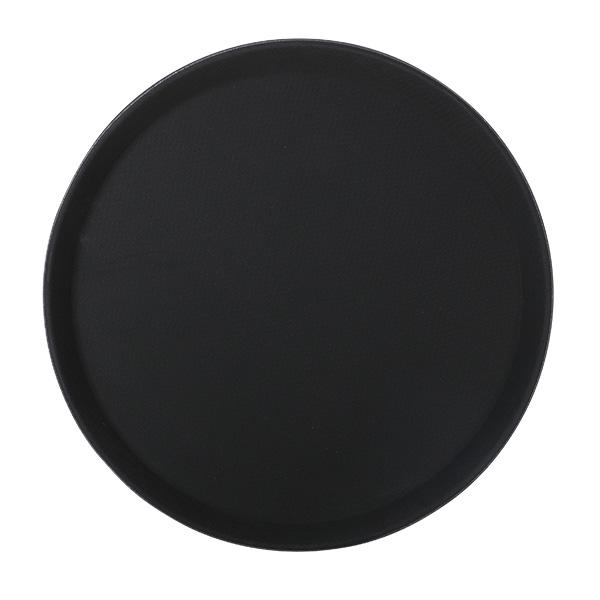 Tablett Polypropylen 41 cm, rund, schwarz