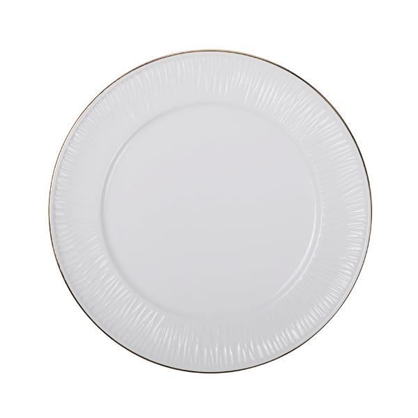 Nippon White Gold Rim Plate 16cm Lines
