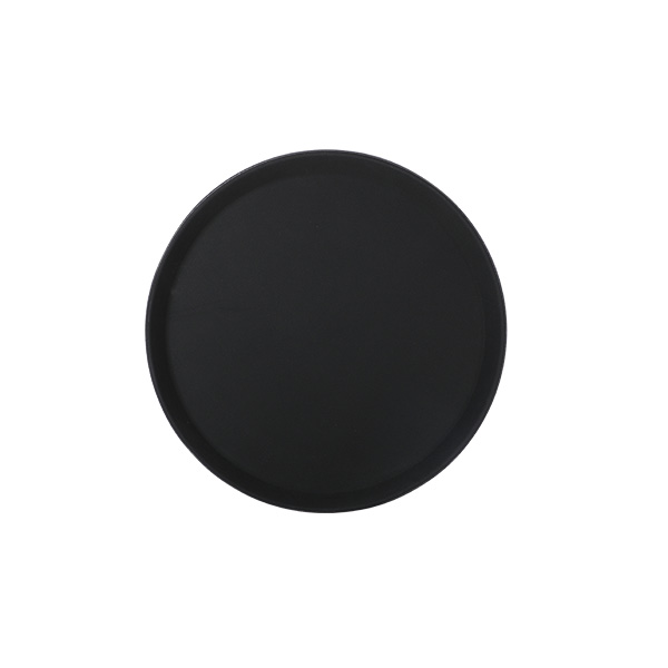 Tablett Polypropylen 28 cm, rund, schwarz