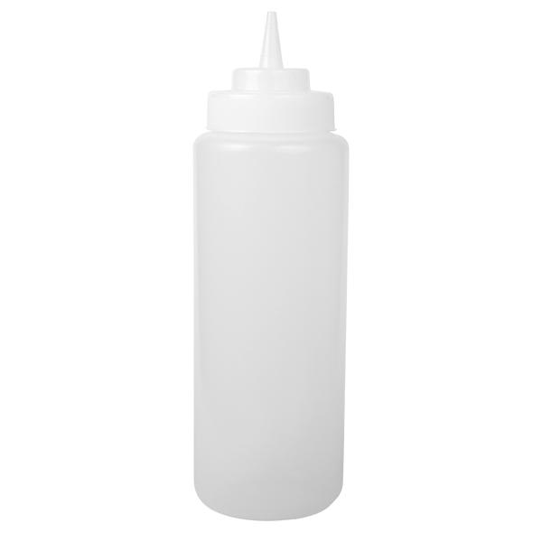 Squeeze Bottle, 32 oz, 944 ml, klar, Wide Mouth