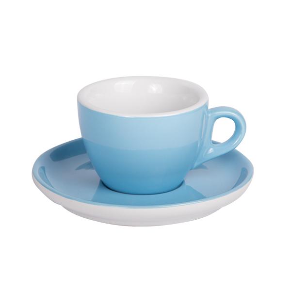 Kaffee Tasse mit Untertasse 160ml Blau 283C