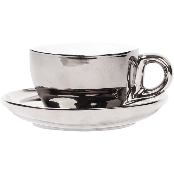 Cappuccino Set Silber, 200ml