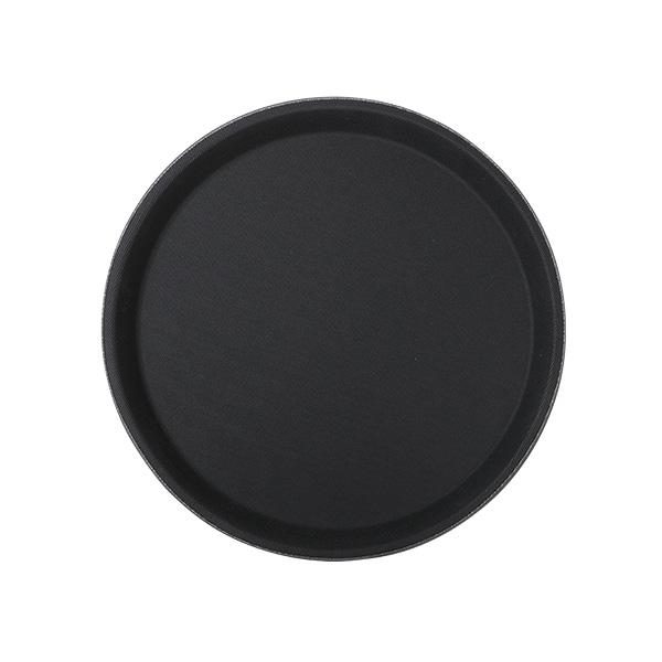 Fiberglastablett 36 cm rund, schwarz
