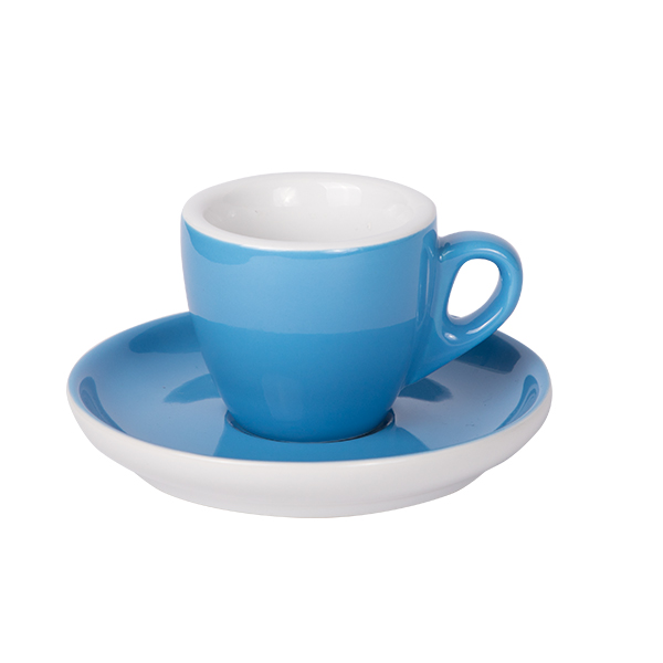 Espresso Tasse mit Untertasse 55ml Blau 2170c