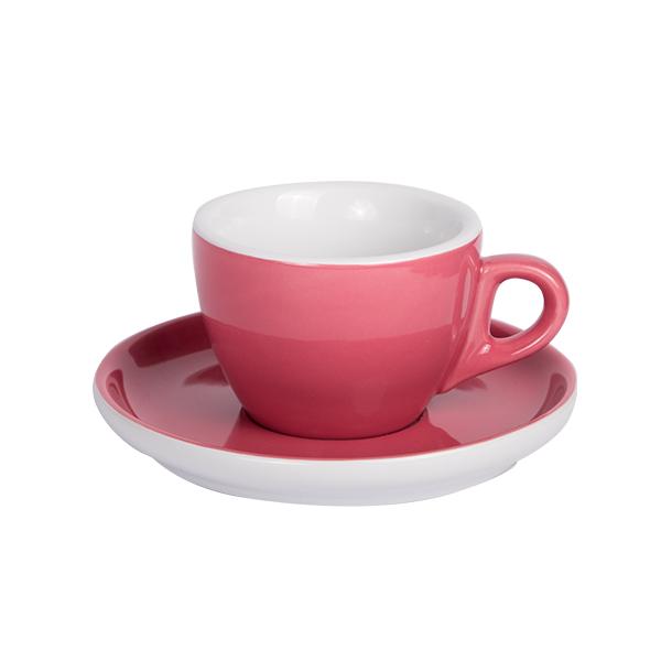 Kaffee Tasse mit Untertasse 160ml Kaminrot