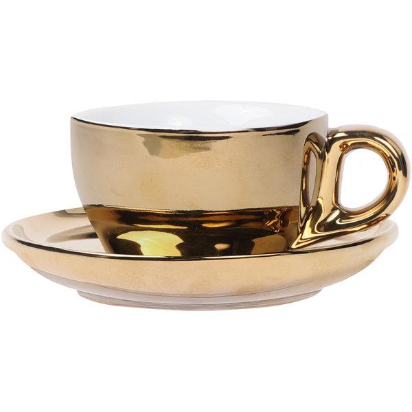 Cappuccino Set Gold, 200ml