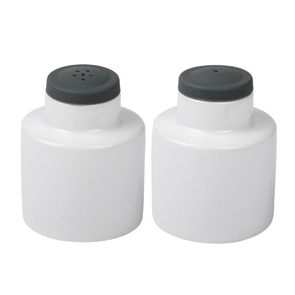 Salz- & Pfefferstreuer Set, Porzellan mit Silikonaufsatz