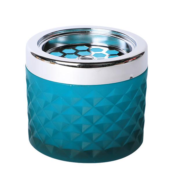 Windaschenbecher Glas Türkis matt