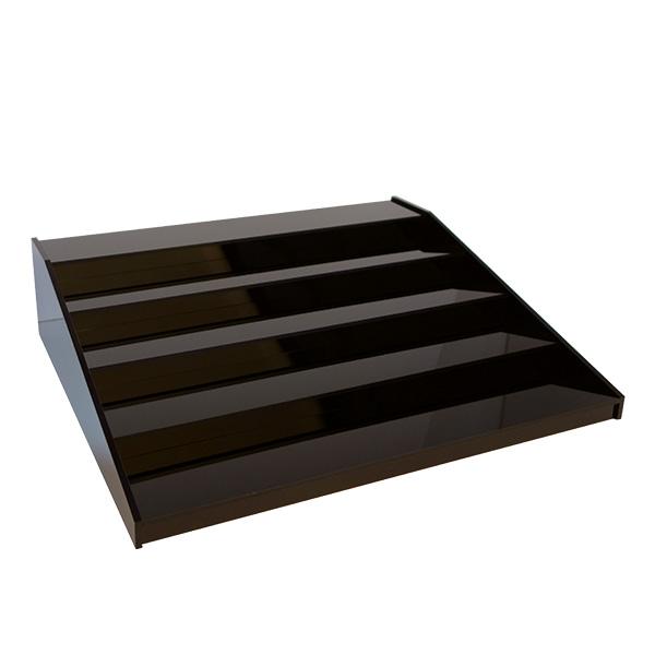 Flaschentreppe 5 Stufen - Schwarz, 60x50x15 cm BxTxH