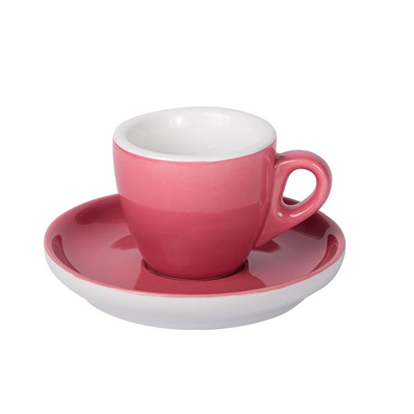 Espresso Tasse mit Untertasse 55ml Kaminrot