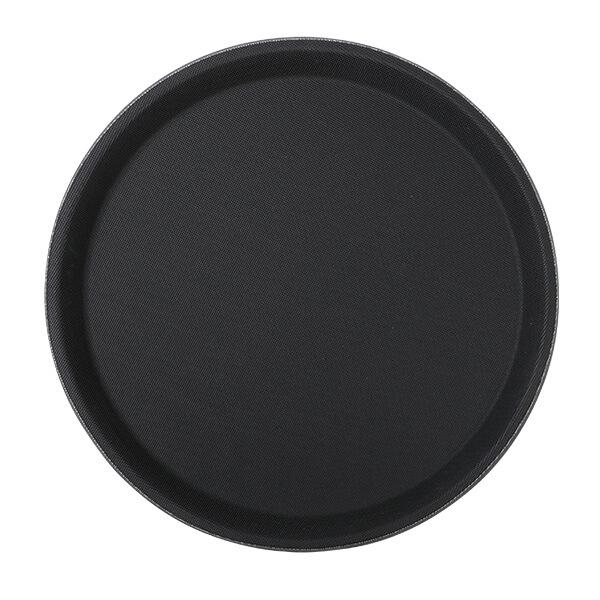 Fiberglastablett 41cm rund, schwarz