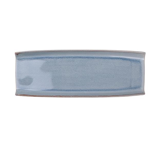 Ming Platte rechteckig Teller, blau 40,5cm