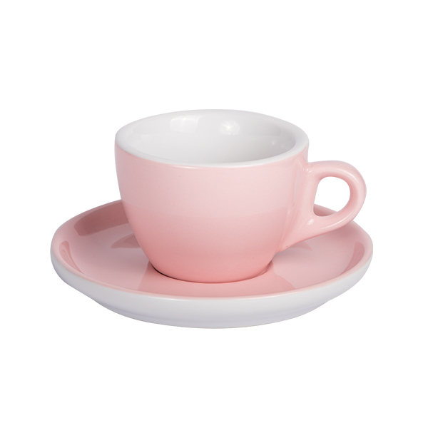 Kaffee Tasse mit Untertasse 160ml Rosa