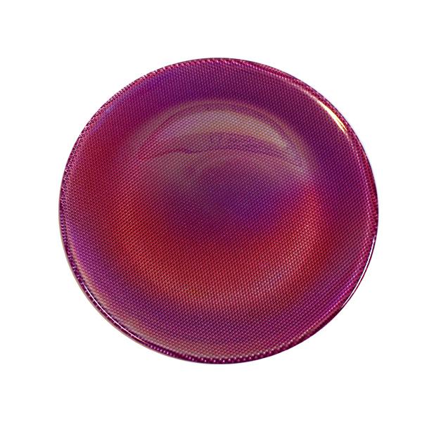 Glasteller Violett/Perlmutt - Iride