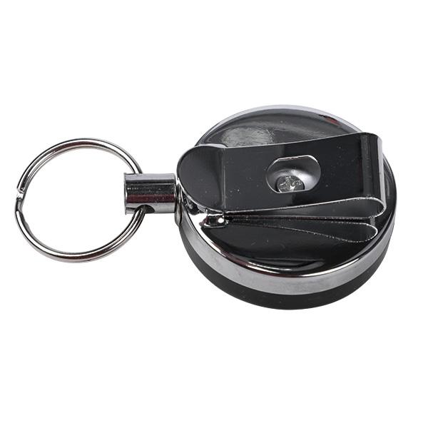 Schlüssel Schnurspule - klein 4cm black