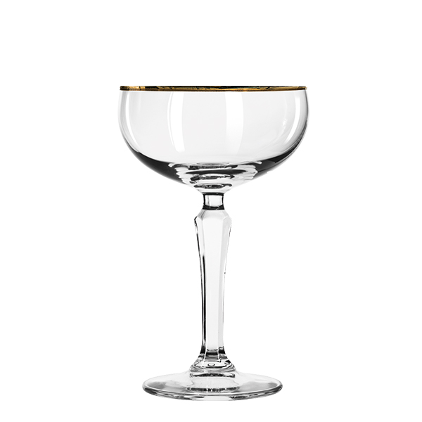 SPKSY Coupe Champagner Goldrand 245ml