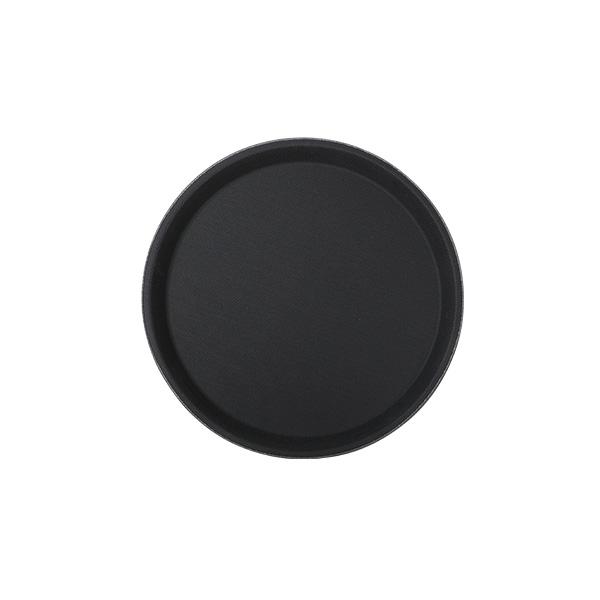 Fiberglastablett 28 cm rund, schwarz