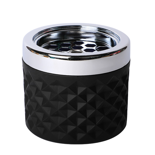 Windaschenbecher Glas Schwarz matt