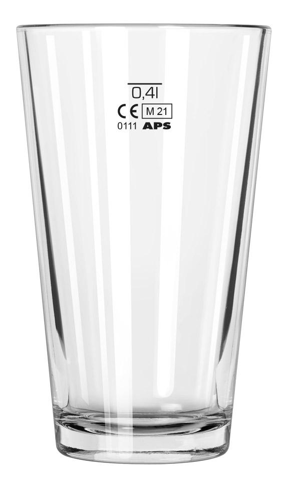 Libbey Boston-Shaker Glas mit 0,4L Eichung