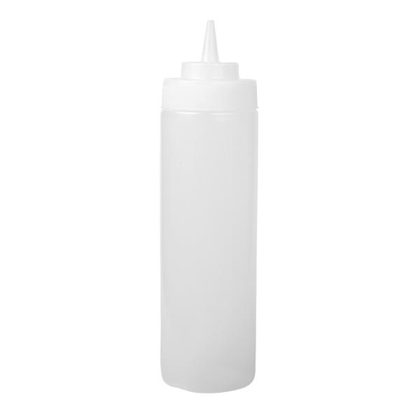 Squeeze Bottle, 24 oz,708 ml, klar, Wide Mouth
