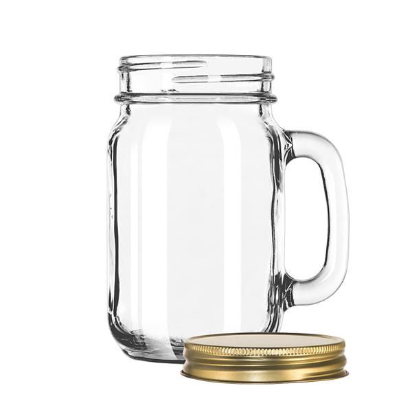Drinking Jar - Plain Panels 473ml