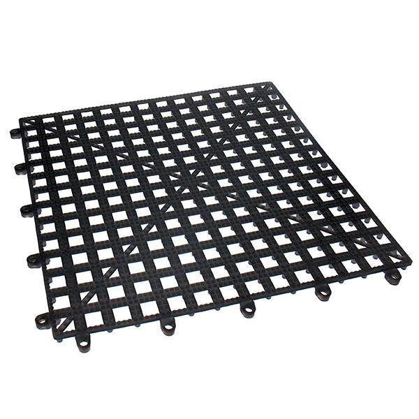 Dri-Deck steckbare Gläserabtropfmatten schwarz