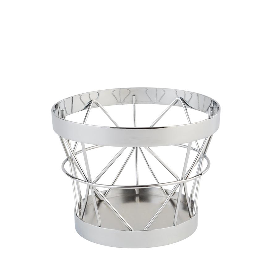 Metallkorb Silber 8cm