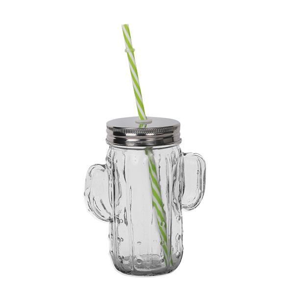 Cactus Drinking Jar 414ml