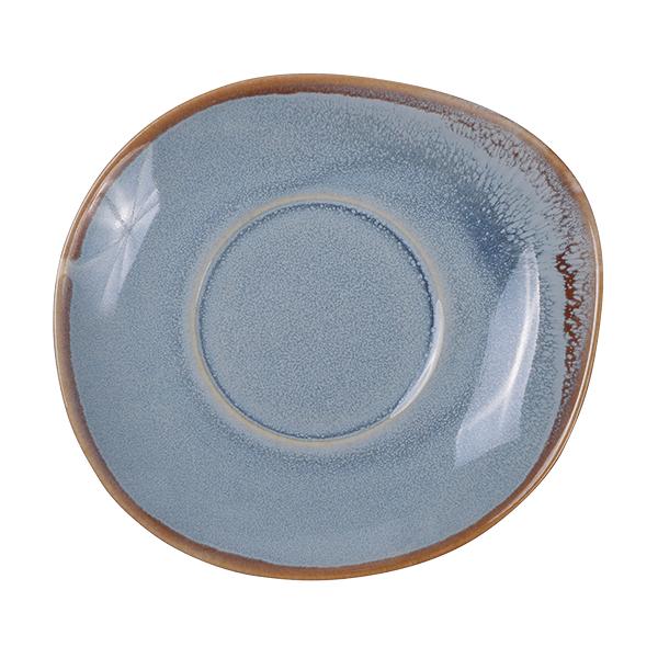 Ming Untertasse für Schale mit Henkel blau
