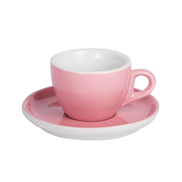 Kaffee Tasse mit Untertasse 160ml Altrosa