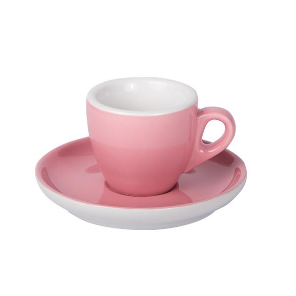 Espresso Tasse mit Untertasse 55ml Alt Rosa