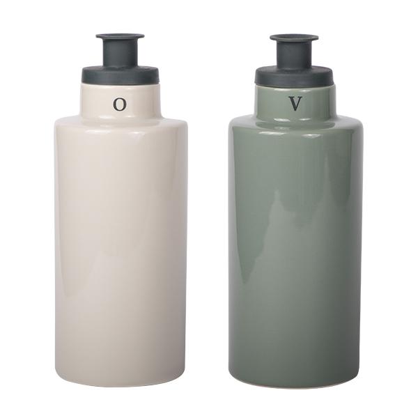 Oil & Vinegar Flaschen Set Beige/Grün 240ml
