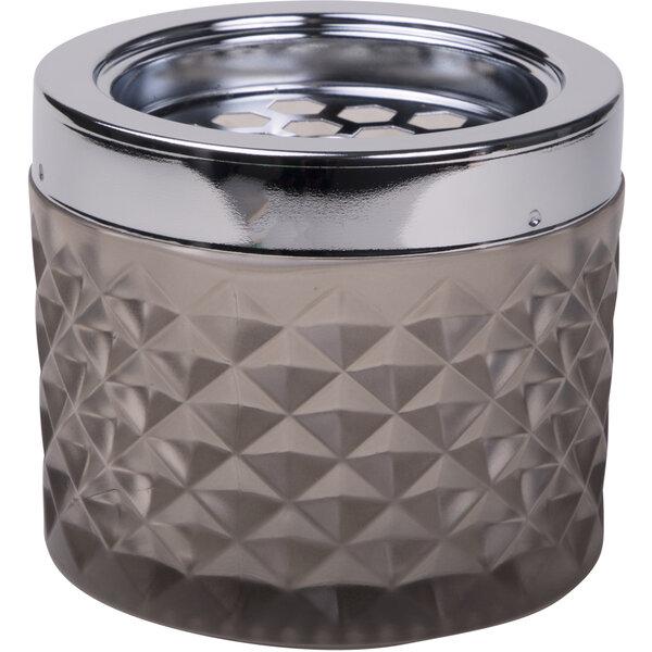 Windaschenbecher Glas, grau-braun (taupe)