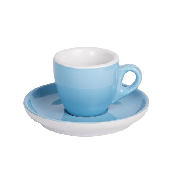 Espresso Tasse mit Untertasse 55ml Blau 283C
