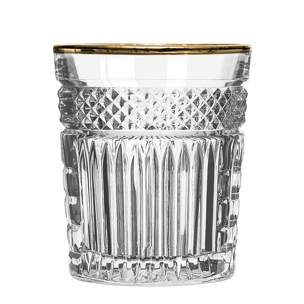 Radiant Double Old Fashioned Glas mit Goldrand 355ml