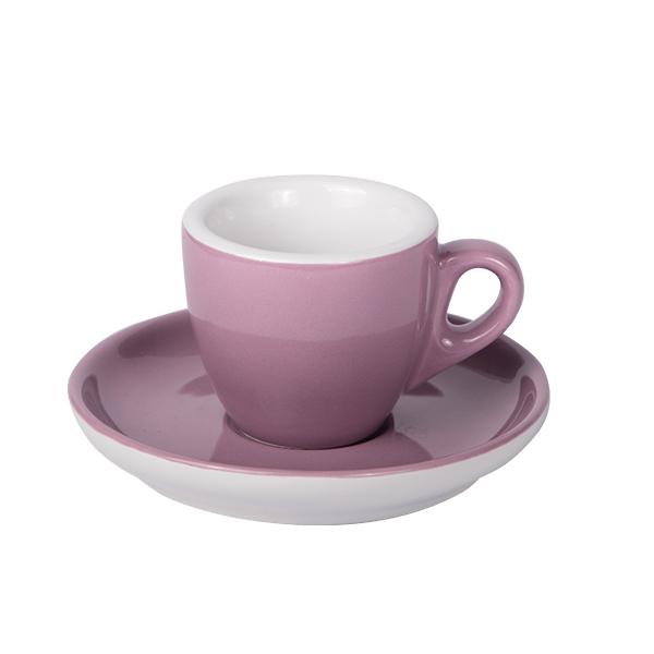 Espresso Tasse mit Untertasse 55ml Lila