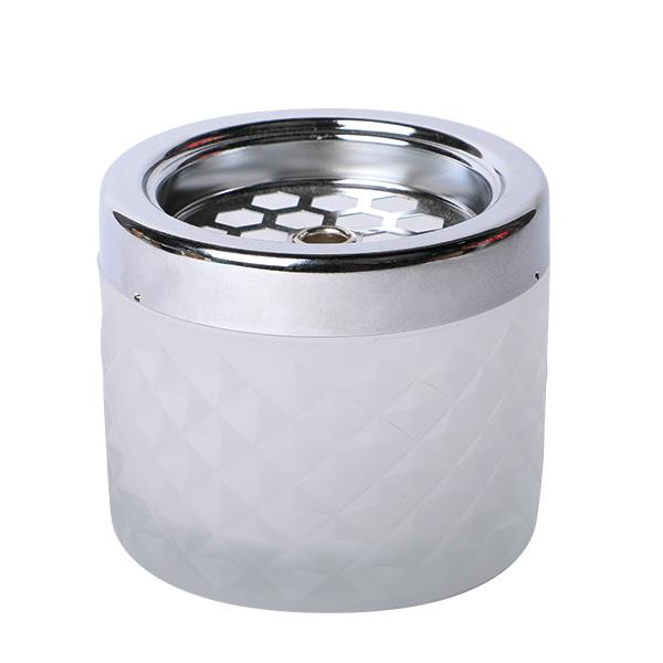 Windaschenbecher Glas Weiß matt