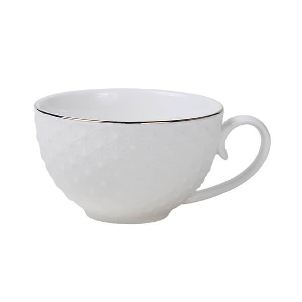 Nippon White Gold Rim Coffee Cup Star 250ml