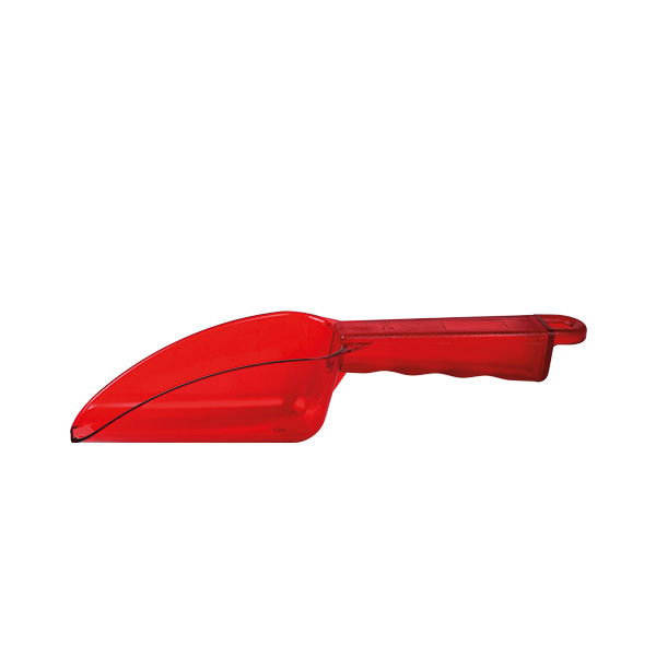 Eisschaufel Polycarbonat 0,18 Liter, rot
