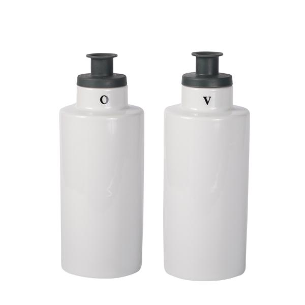 Oil & Vinegar Flaschen Set Weiß 240ml