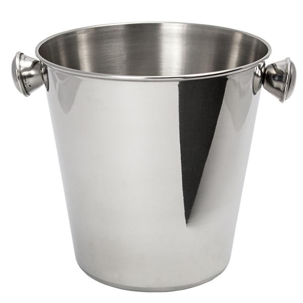 Mini Ice Bucket with Handle, Polish,Stainless St., Ø14,5x14,5cm