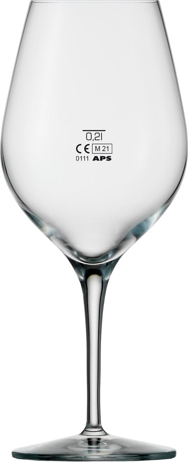Rotweinkelch - Exquisit 480 ml mit 0,2L Eichung